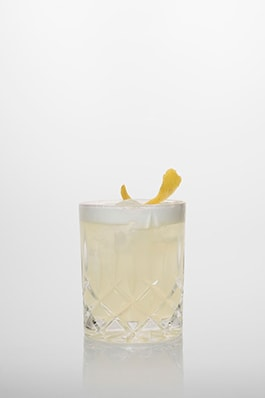 Lemon Drop Cocktail: Vodka, Zuckersirup, frischer Zitronensaft.