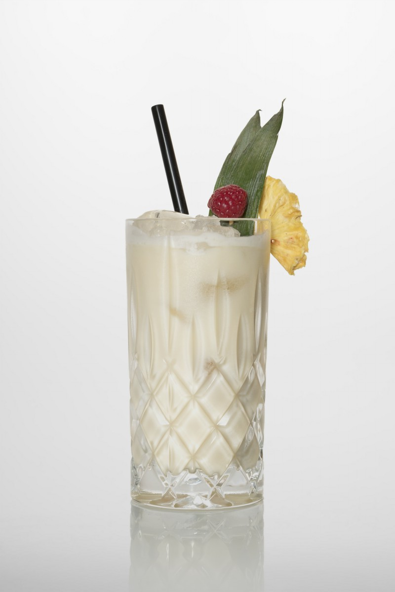 Rezeptur Coconut Kiss: Kokossirup, Sahne, Ananassaft.