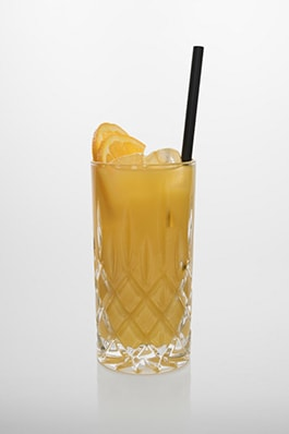 Screwdriver: Vodka, Orange.