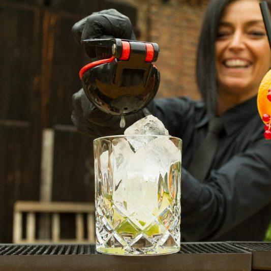 happy barkeeper